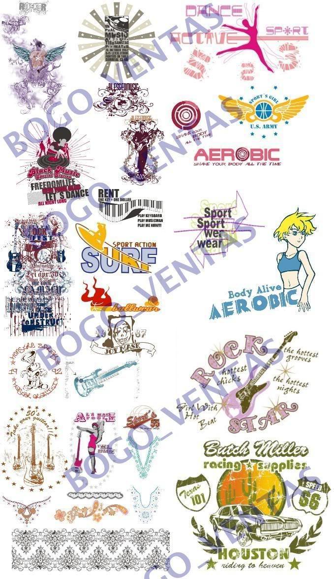 Musica, Rock y Pop, Motivos etnicos y tribales, escudos, deportivos y fitness