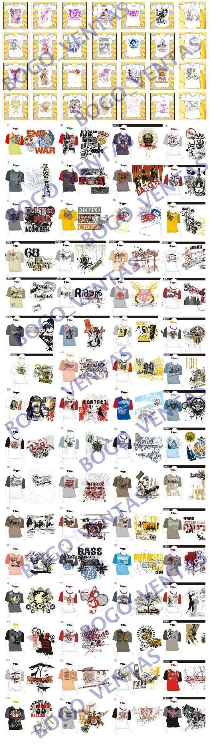 Vectores Serigrafia Screen Estampacion Camsetas Ropa Camisas